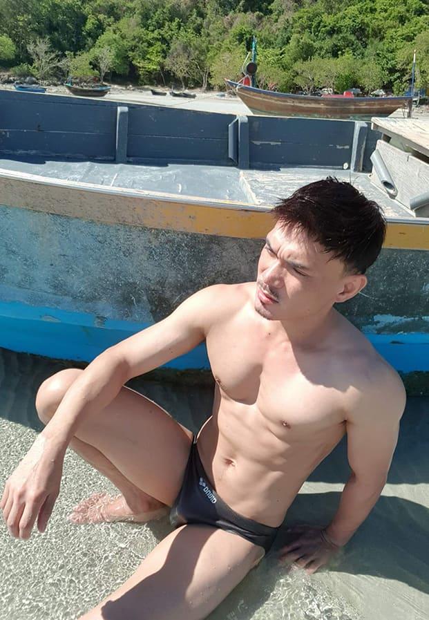 man beach